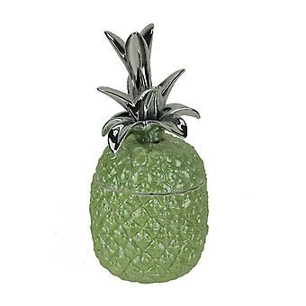 Vihreä keraaminen trooppinen ananas koriste jar
