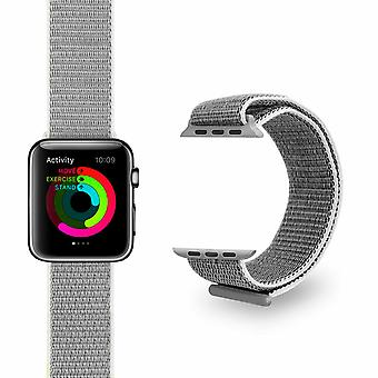 Nylon Strong Sports Bandas de Reemplazo para Apple Watch, Plata, 42mm
