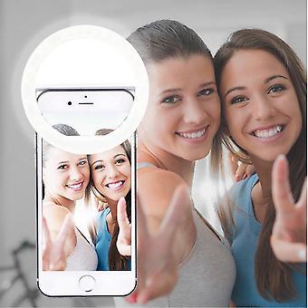 Autopkio selfie prsten světlo, 36 vedl světelný prsten klip na doplňkové selfie osvětlení noční tma e