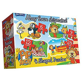 Pip Ahoy! 4-in-1 Puzzles (6/9/12/24-Stück)