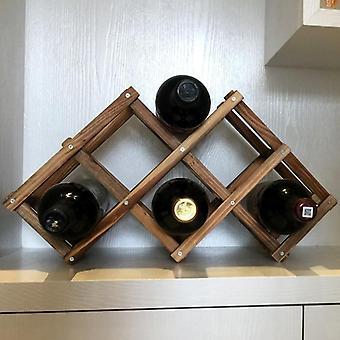 Wooden Wine Rack/household Folding Winebottle Storage Shelf/home Decoration