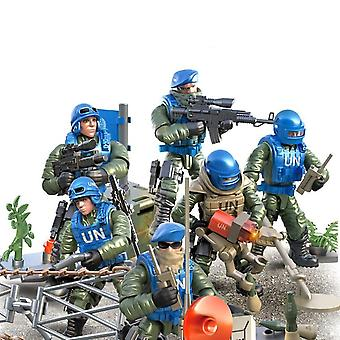 Building Blocks Mini Soldier Set Un Peacekeepingce Figures Action Model