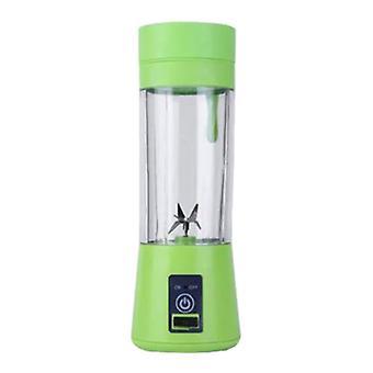 Qihui Portable Blender with 6 Milling Blades - Portable Smoothie Maker Juicer Juicer Green