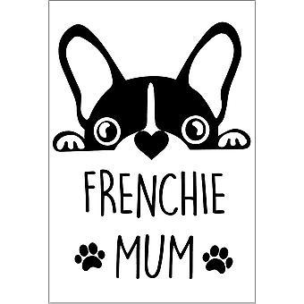 Étiquette de bouteille de vin de maman de Frenchie