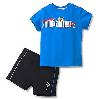 Puma x Sega Baby Set Sonic šortky tričko dojčatá Co Ord Oblečenie 596321 41