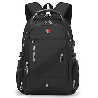 Waterproof 17 Inch Laptop Backpack & Usb Charging Travel Backpack  Oxford