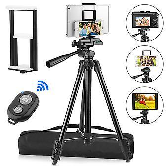 """Pemotech 50"""" jalusta [paksummat jalat] tablet-puhelimen kameralle +puhelin ja tabletin pidike +kaukosäädin+b"""