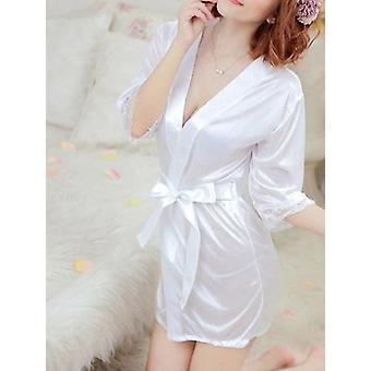 женщины-апос;s Сексуальная белье Сет-шелковый халат