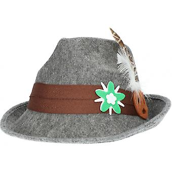 Hat Tyrolean 26 Cm Polyester Grey