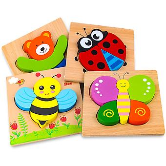 Wooden Animal Educational Puzzles For Boys & Girls