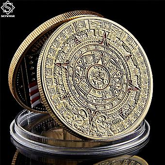 Meksiko Mayan Atsteekki Kalenteri Taide Ennustus Kulttuuri Kultakolikot Keräilyesineet