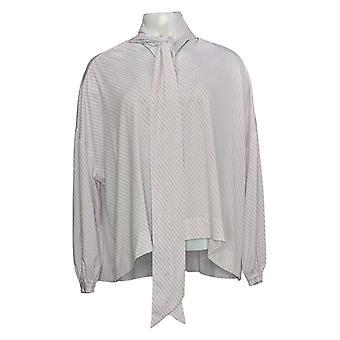 Laurie Felt Women's Long Sleeve Scarf Drape Blouse Pink A305682