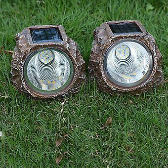 Imitation Stone Solar Light Led Buried Waterproof Resin Solar Lawn Lamps