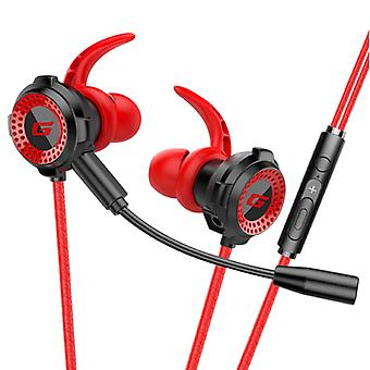 TOPK F36 Gaming Headset with Omnidirectional Mic - For PS4 / PS5 - Earphones Headphones Headphones with Microphone Red
