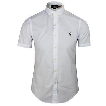 Ralph lauren men's white seersucker shirt