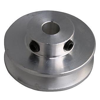 Silverlegering One Groove Remskiva 31x6MM för Motor Shalf 3-5MM runda bälten