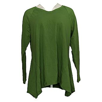 إسحاق مزراحي لايف! Women's Top Seamed Knit Long Sleeve Green A390348