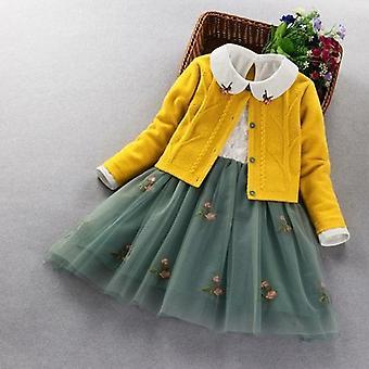 Elegant Clothing Set Spring Autumn Kids Princess 2pcs Suit