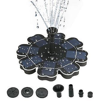Pompe à eau d'économie d'énergie solaire de panneau de fleur de fontaine 195mm/7.68»