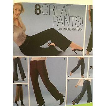 דפוס תפירה פשטות 5350 נשים מתגעגע 8 גודל מכנסיים גדול 4-10 נימולים