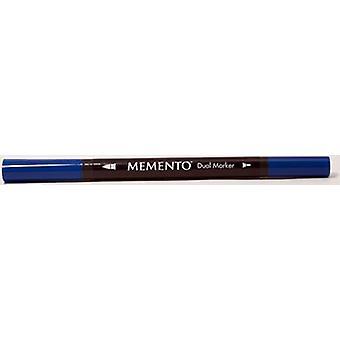 Tsukineko Memento Marker Pen - Danube Blue
