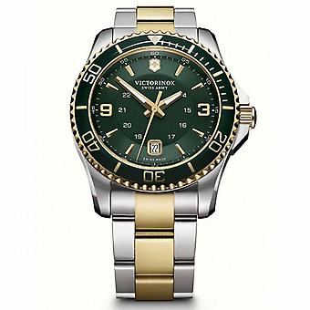 Relógio Victorinox Maverick masculino em aço de dois tons - 43 mm