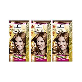 Schwarzkopf Country Colours 49 Cognac Warm Brown Semi-Permanent Hair Dye x 3