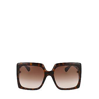 Gucci GG0876S havana kvindelige solbriller