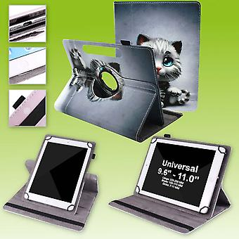 Für Samsung Galaxy Tab A 10.1 2019 T510 T515 360 Grad Rotation Universell Motiv 10 Tablet Tasche Kunst Leder Hülle Etuis