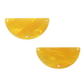 Zola Elements Asetaatti Y-liitin linkki, puoliympyrä 30x15mm, 2 kpl, hunajakenno
