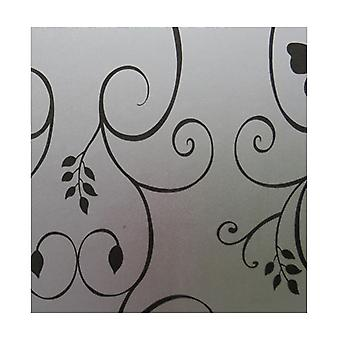 Frosted white decorative window sticker