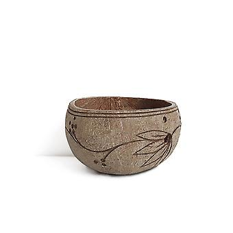 Natural coconut bowl wooden spoon stirring spoon spoon salad bowl non-toxic coconut shell bowl