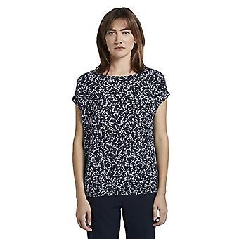 Tom Skräddare Lös AOP Bluse T-Shirt, 21293/Navy Flowery Design, 36 Kvinnor