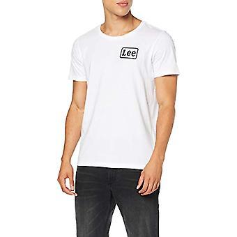 Lee Chest Logo Tee T-Shirt, Vit (Vit 12), Stora Män