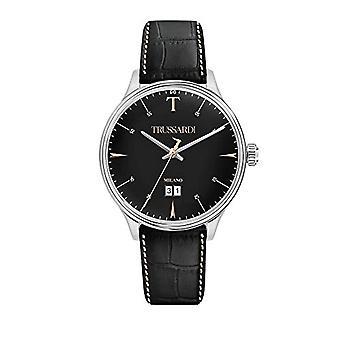 Trussardi Men's Quartz Analog Watch with Leather Strap R2451130002