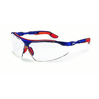Komfort-Schutzbrille i-vo blau-orange ungetönt