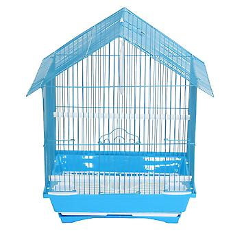 """Yml A1114Mblu House Top Style Small Parakeet Cage, 11"""" X 9"""" X 16"""""""