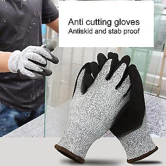 1 ζευγάρι γάντια εργασίας αντι τριβής κόψτε τα ανθεκτικά προστατευτικά γάντια εργασίας