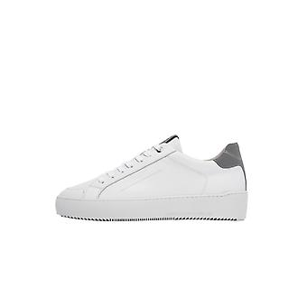 Android Homme Zuma Leather Reflective Trainer White