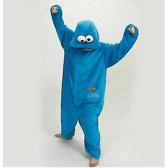 Blue Adult Blue Sesame Street Cookie Elmo Costume(M)