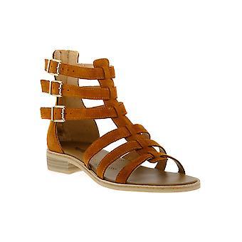 Black gardens 326 velour tobacco sandals