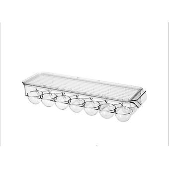 14 Grids Egg Storage Box Egg Tray Containers Kitchen Refrigerator Eggs Transparent