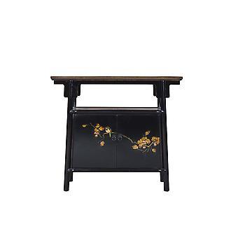 Fine Asianliving kinesiske kabinet Sort Håndmalet W98xD36xH86cm