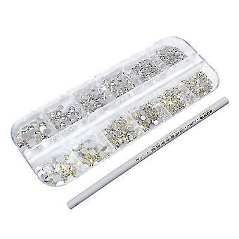 ネイルジェムとラインストーン、3 PCのネイルクリスタルダイヤモンドを飾る爪、アイメイク、バッグ、その他アイテム