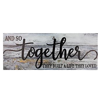 Together Rustic Wood Home Wall Decor Room Decorative Large Farmhouse Sign