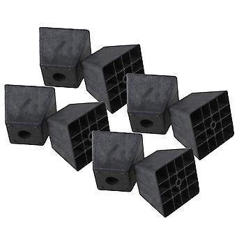 Pöydän jalat 8kpl musta muovinen trapetsi sohva jalat huonekalut tarvikkeet 9.8x9.8x8cm
