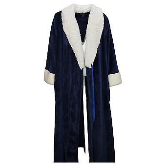 Soft & Cozy Women's Plush Tie Front Robe Blue 670932