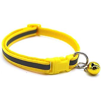 Adjustable Pet Reflective Bell Collar For Cats And Small Dogs