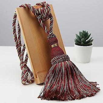 Polyester Tassel Curtain Tieback - Handmade Hanging Ball Tassels Fringe