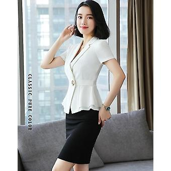 Formal Uniform Styles Blazers Suits With Tops And Skirt For Ladies Office Work
